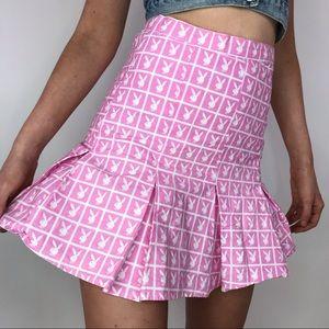 Playboy x Joyrich Pink monogram skirt